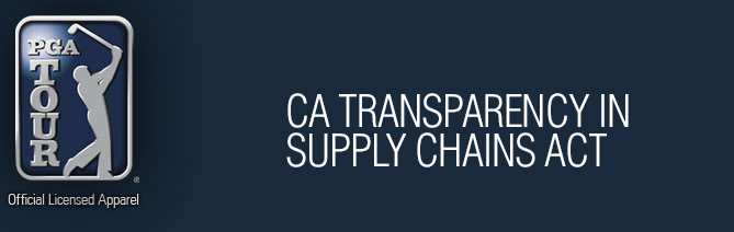 California Transparency in Supply Chains Act Banner
